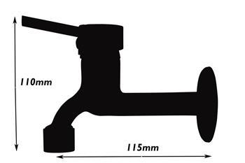 atco nino schwarz kaltwasserarmatur wandarmatur wandventil kaltwasserhahn ebay. Black Bedroom Furniture Sets. Home Design Ideas